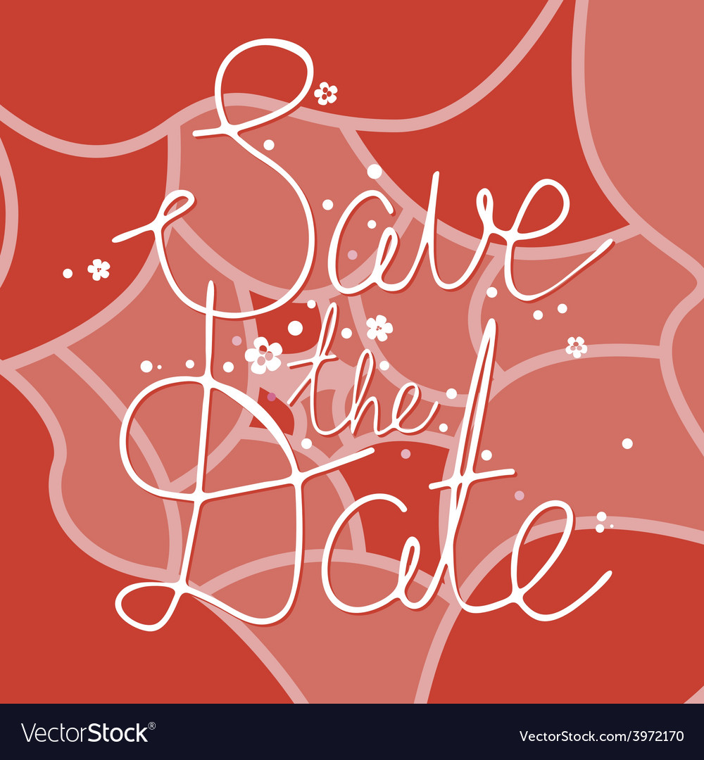 Save the date floral design vector | Price: 1 Credit (USD $1)