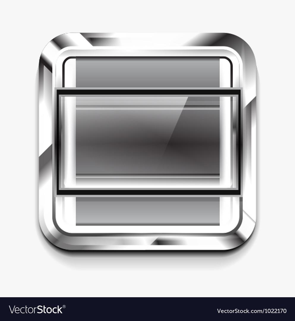 Scroller square icon vector | Price: 1 Credit (USD $1)