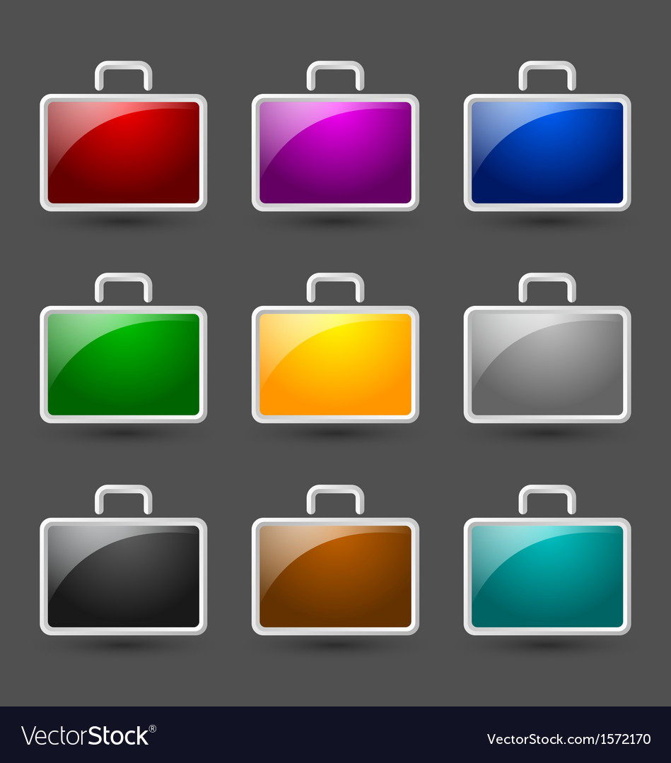 Suitcase icons vector | Price: 1 Credit (USD $1)