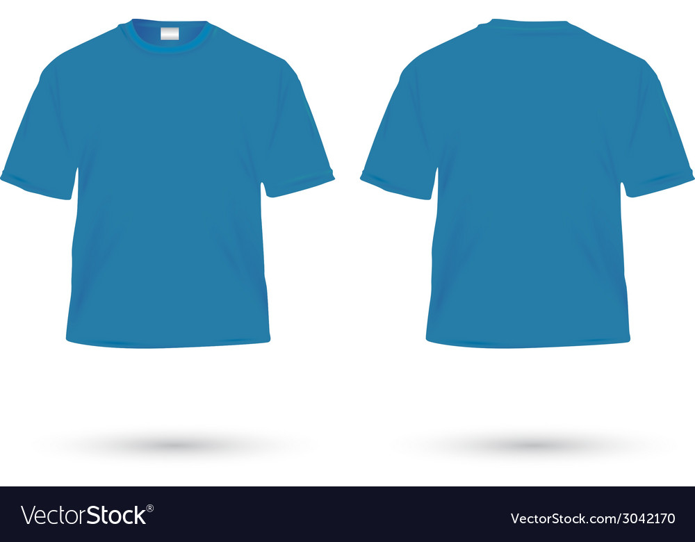 T shirt blue vector | Price: 1 Credit (USD $1)