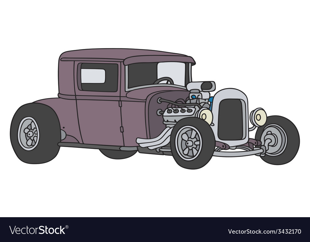 Violet hot rod vector | Price: 1 Credit (USD $1)