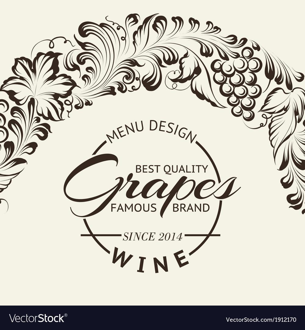 Wine list design layout on chalkboard vector   Price: 1 Credit (USD $1)