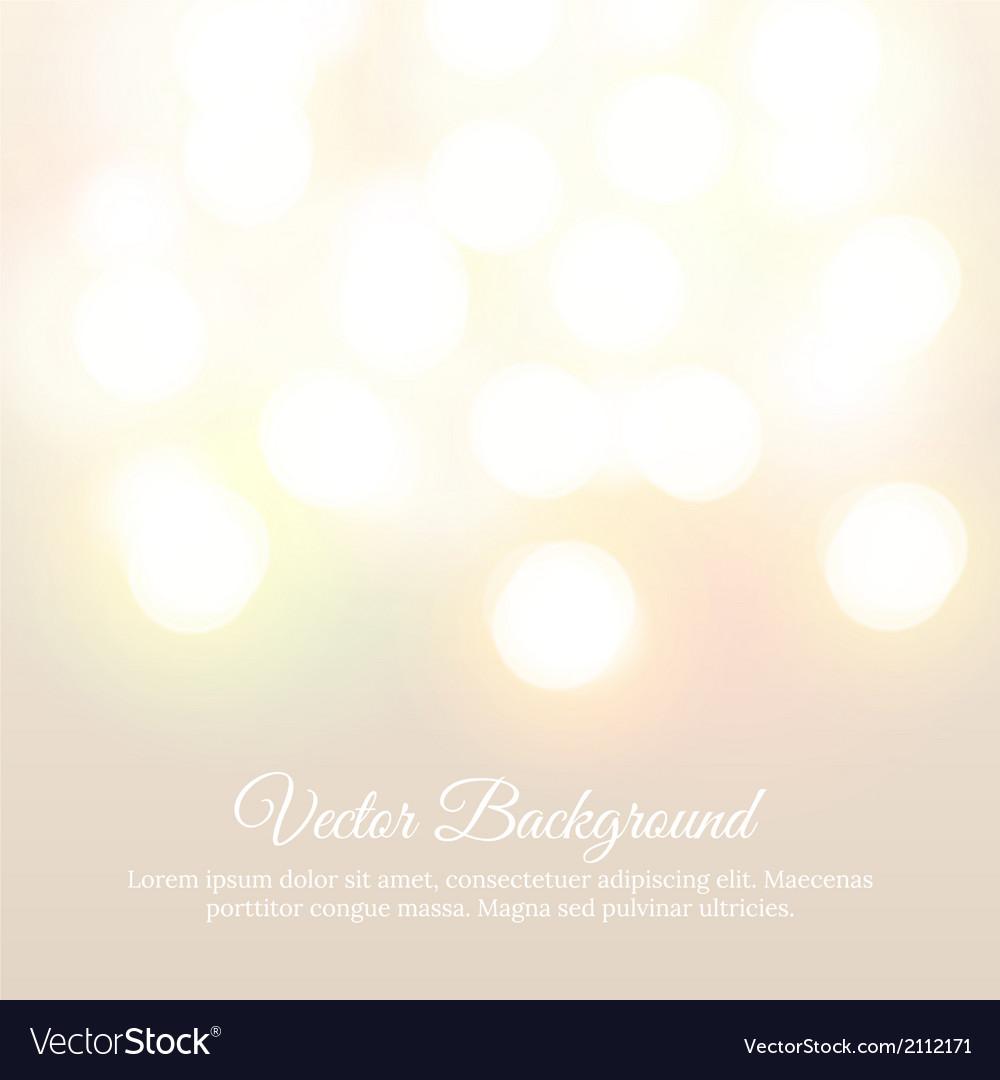 Bokeh light vintage background vector   Price: 1 Credit (USD $1)