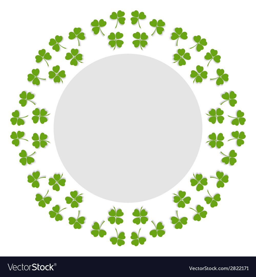 Decorative circular background with clover vector | Price: 1 Credit (USD $1)