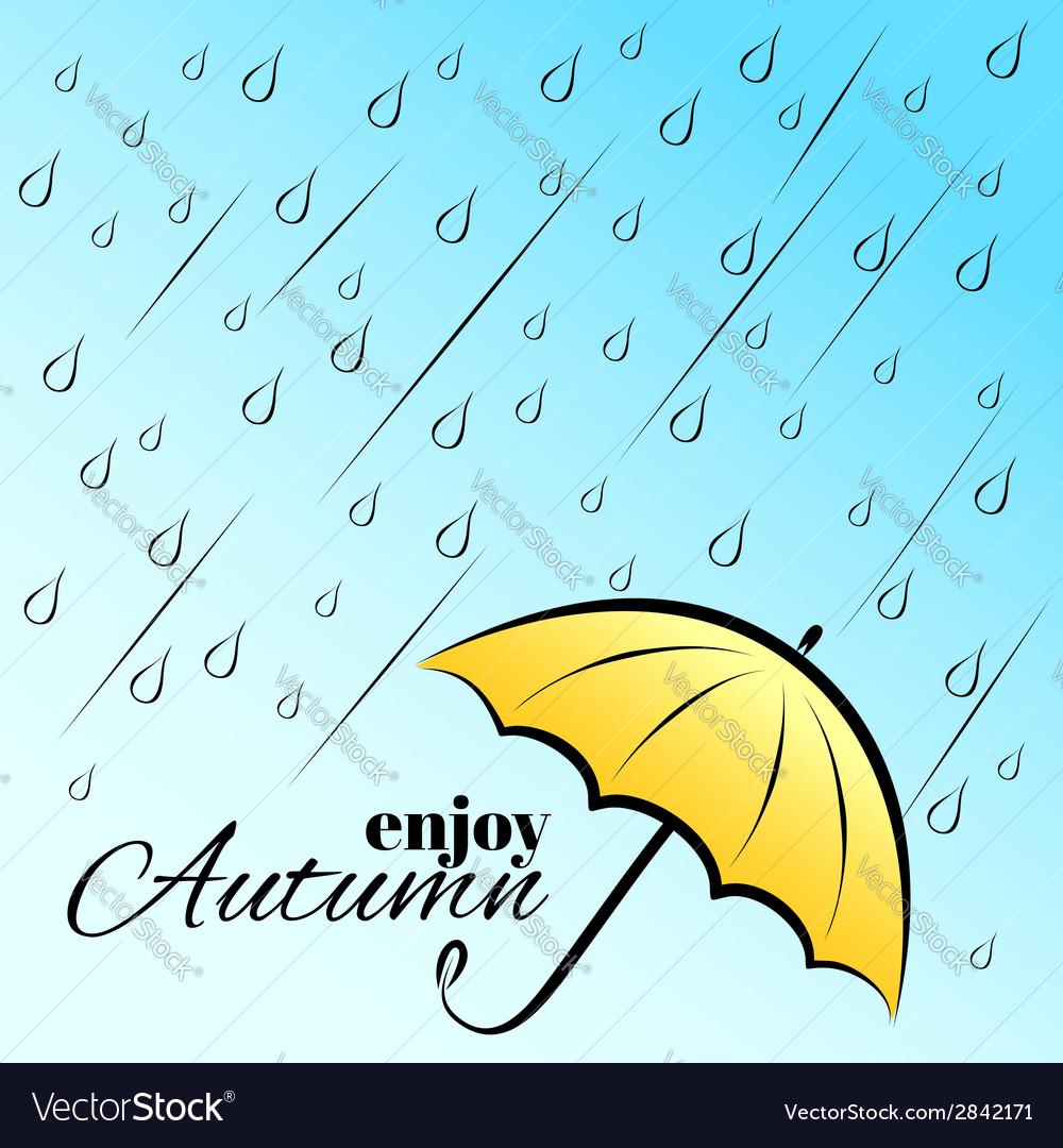 Enjoy autumn under umbrella vector   Price: 1 Credit (USD $1)