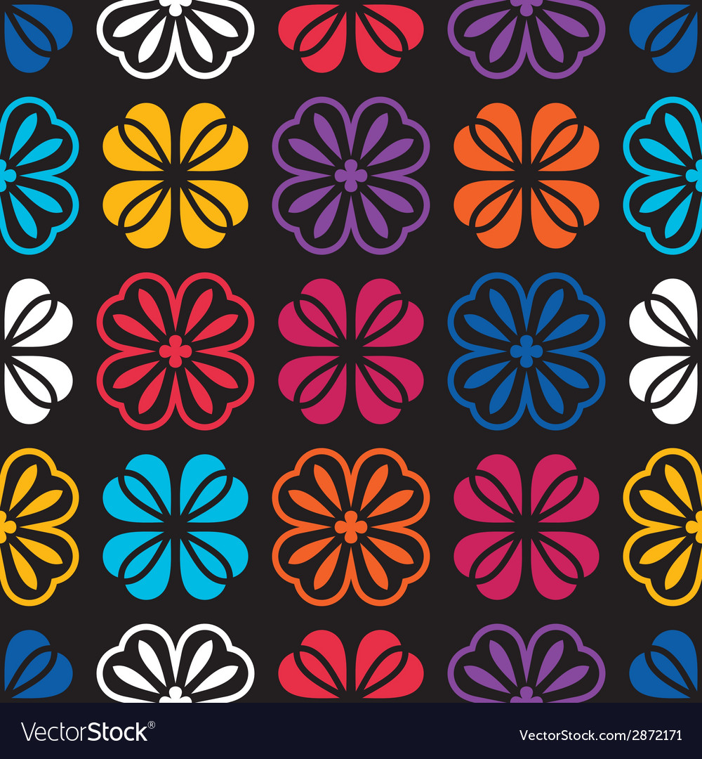 Flowers - seamless pattern vector | Price: 1 Credit (USD $1)