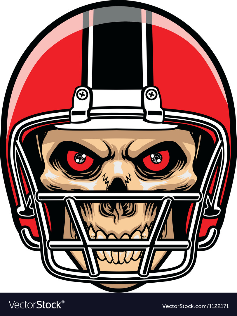 Football player skull vector | Price: 1 Credit (USD $1)