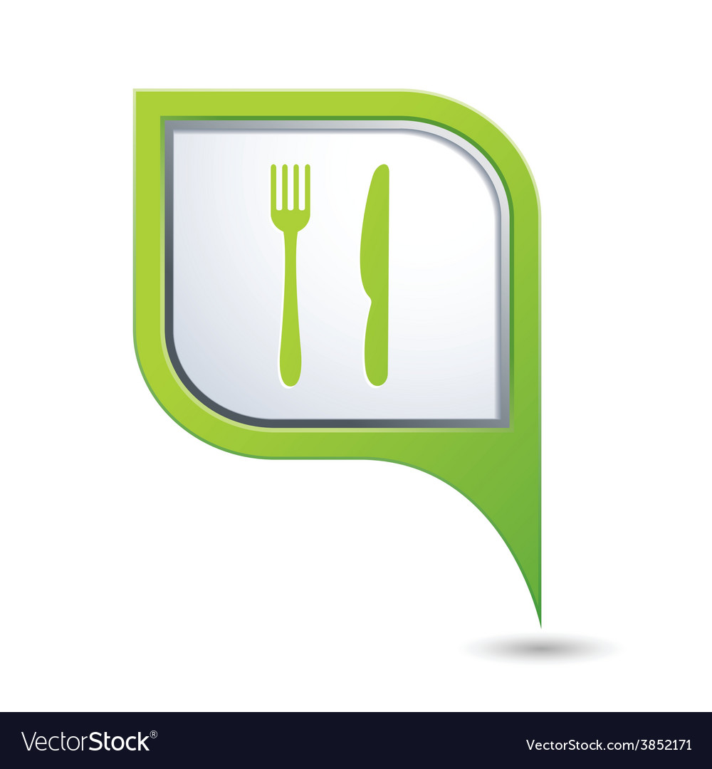Knife and fork green pointer vector | Price: 1 Credit (USD $1)
