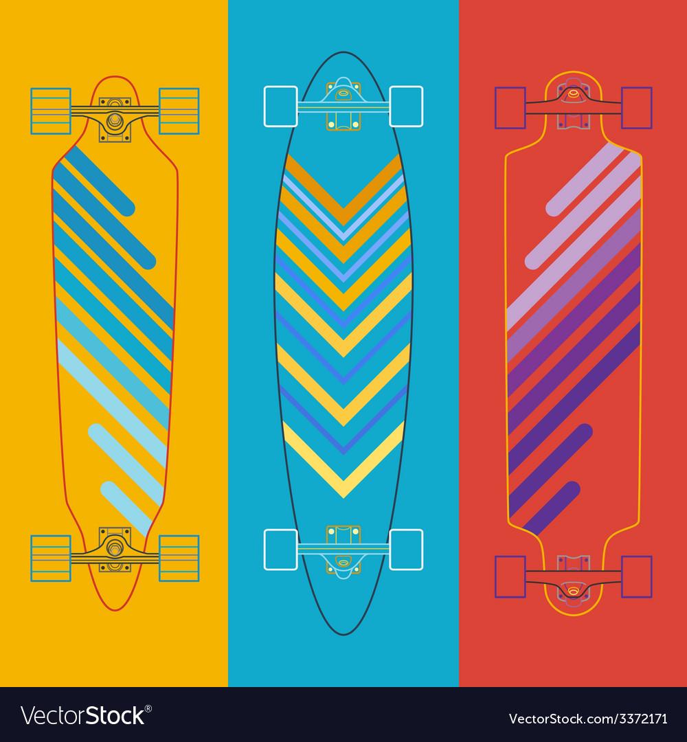 Longboard flat vector | Price: 1 Credit (USD $1)