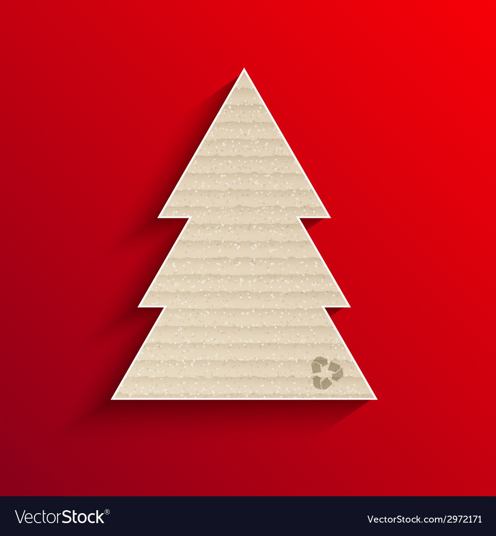 Modern cardboard christmas tree vector | Price: 1 Credit (USD $1)