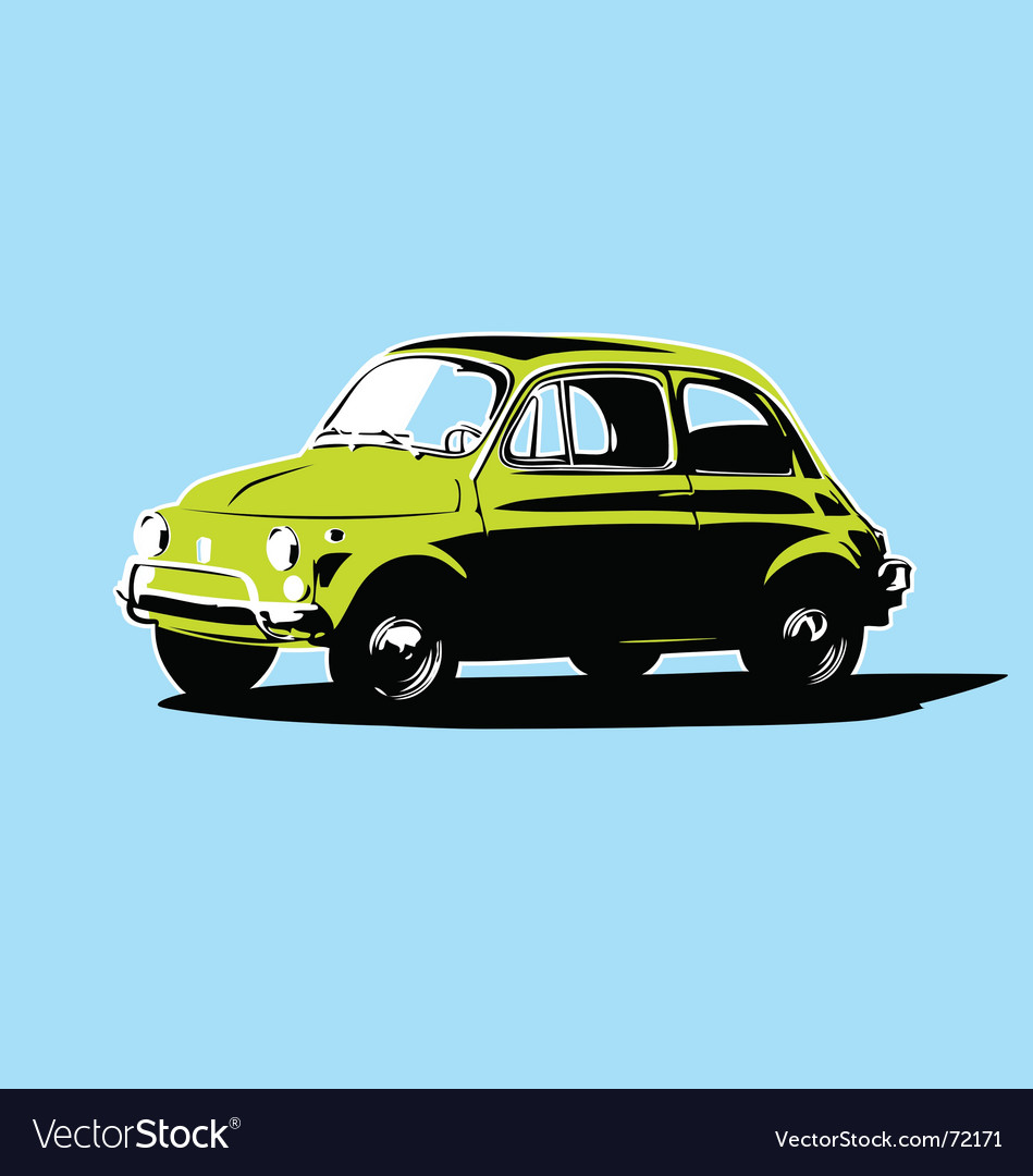 Small car vector | Price: 1 Credit (USD $1)