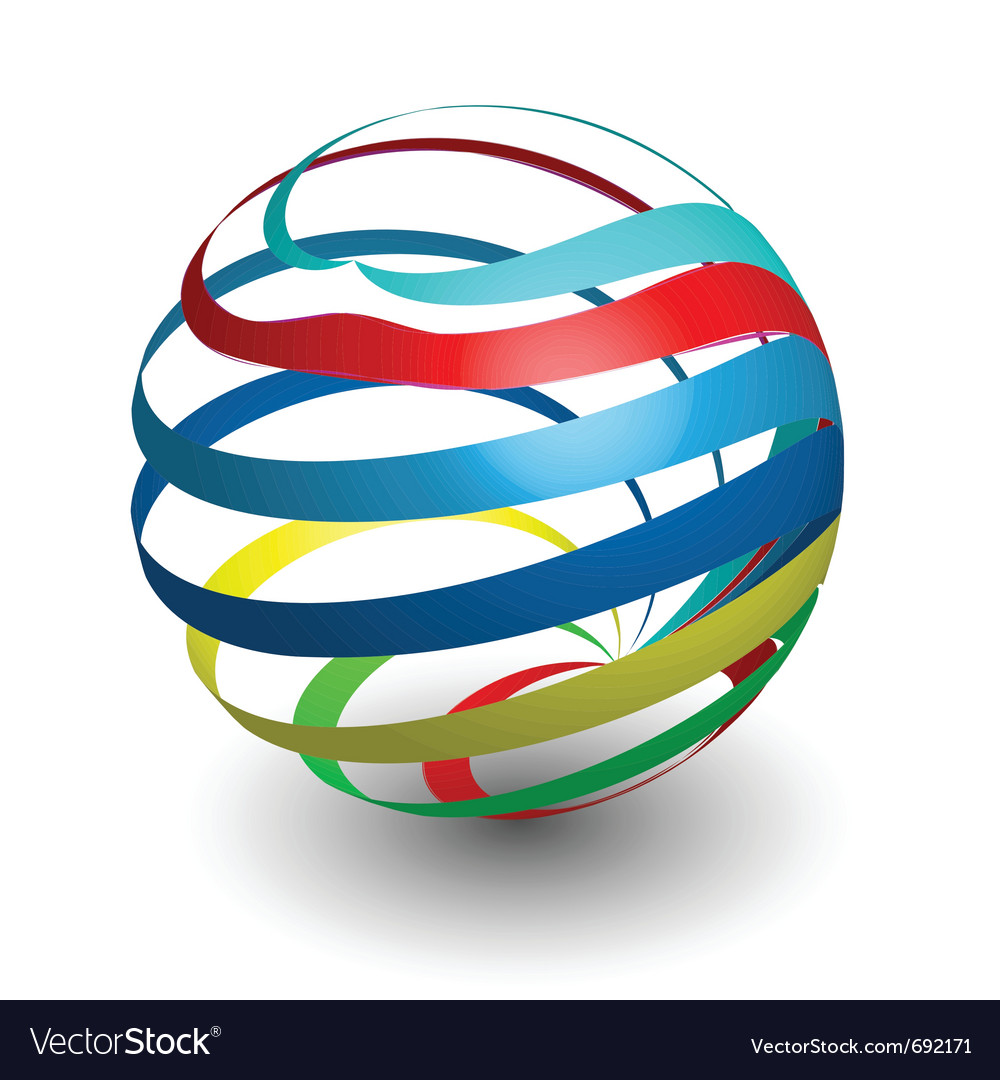 Sphere 3d design vector | Price: 1 Credit (USD $1)