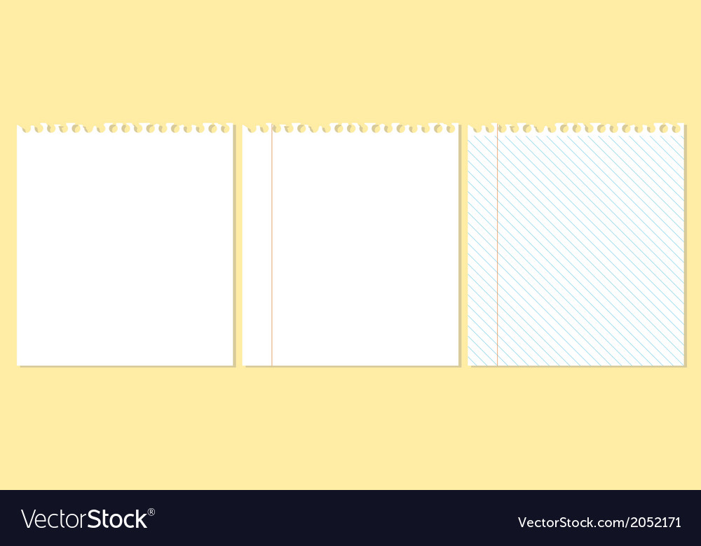 Three pieces of paper vector | Price: 1 Credit (USD $1)