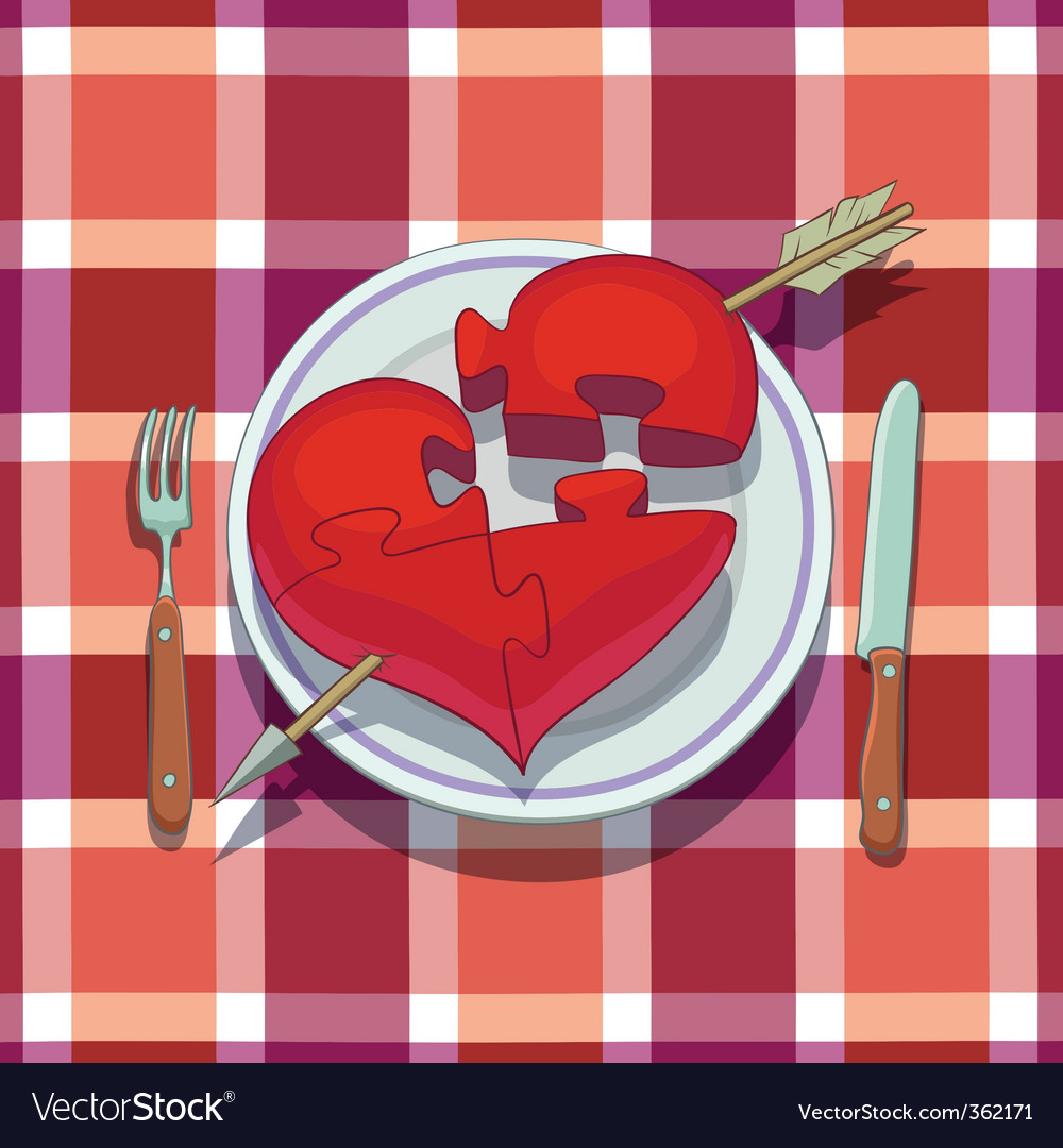 Valentines day lunch vector | Price: 3 Credit (USD $3)