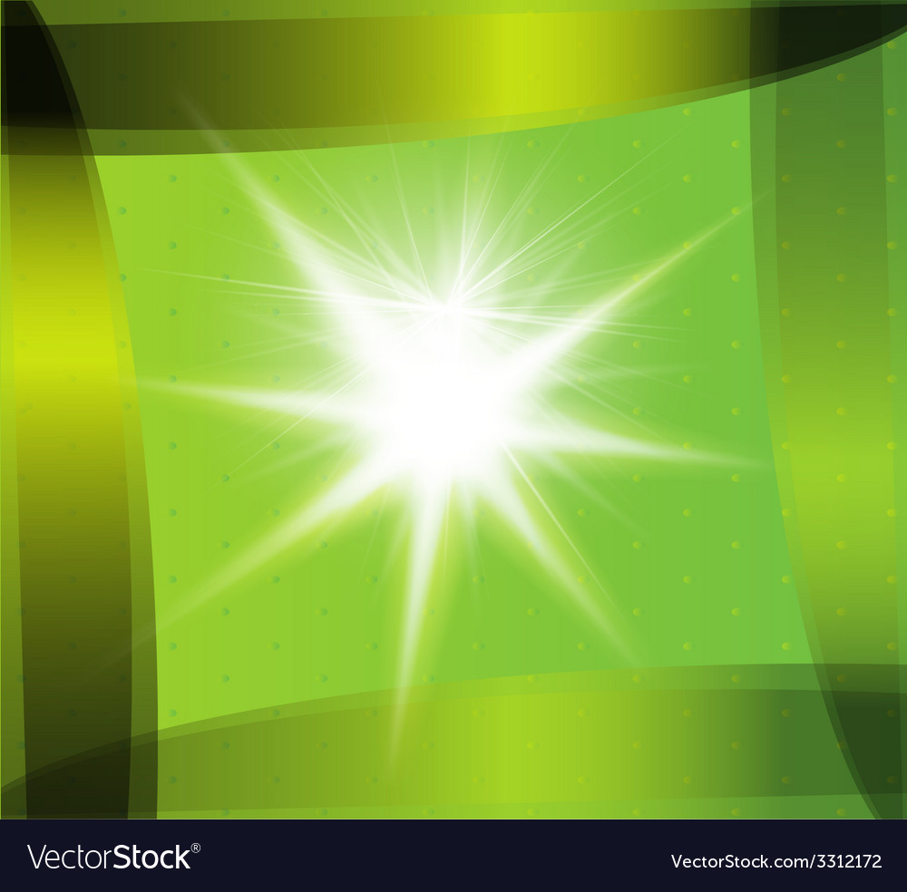 Abstract green technical background with burst vector | Price: 1 Credit (USD $1)