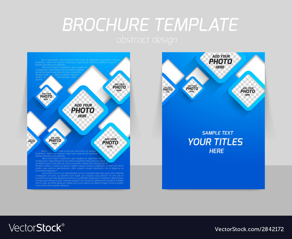 Back and front flyer template design vector   Price: 1 Credit (USD $1)