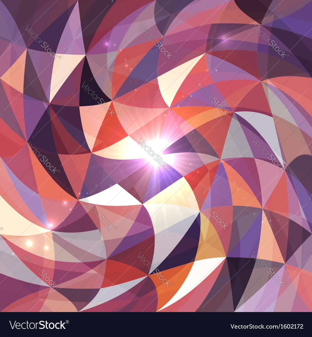 Bright abstract triangles grid background vector | Price: 1 Credit (USD $1)