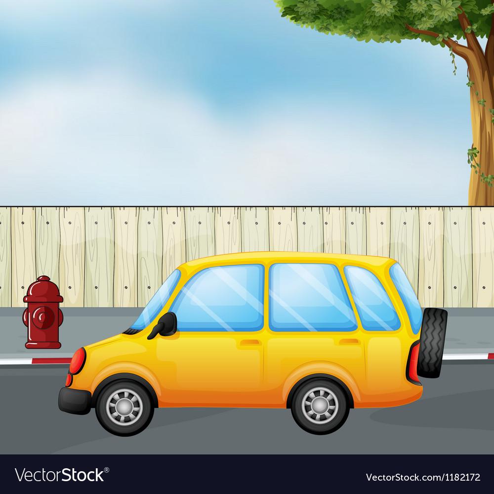 Cartoon yellow car vector | Price: 1 Credit (USD $1)
