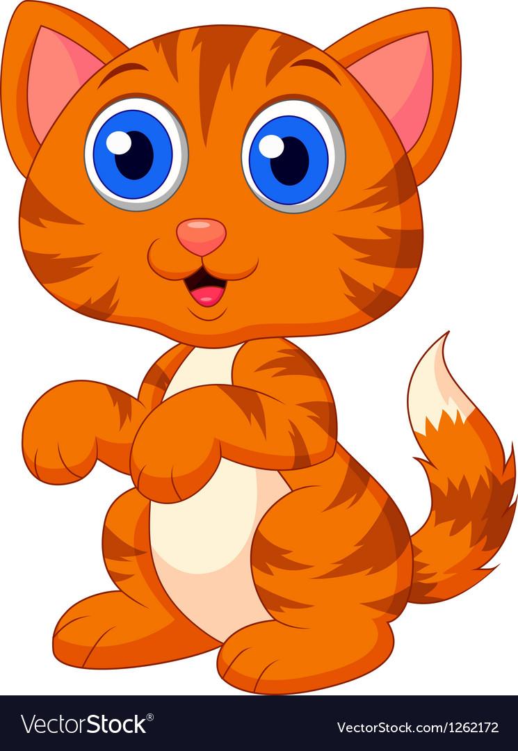 Cute cat cartoon vector | Price: 3 Credit (USD $3)
