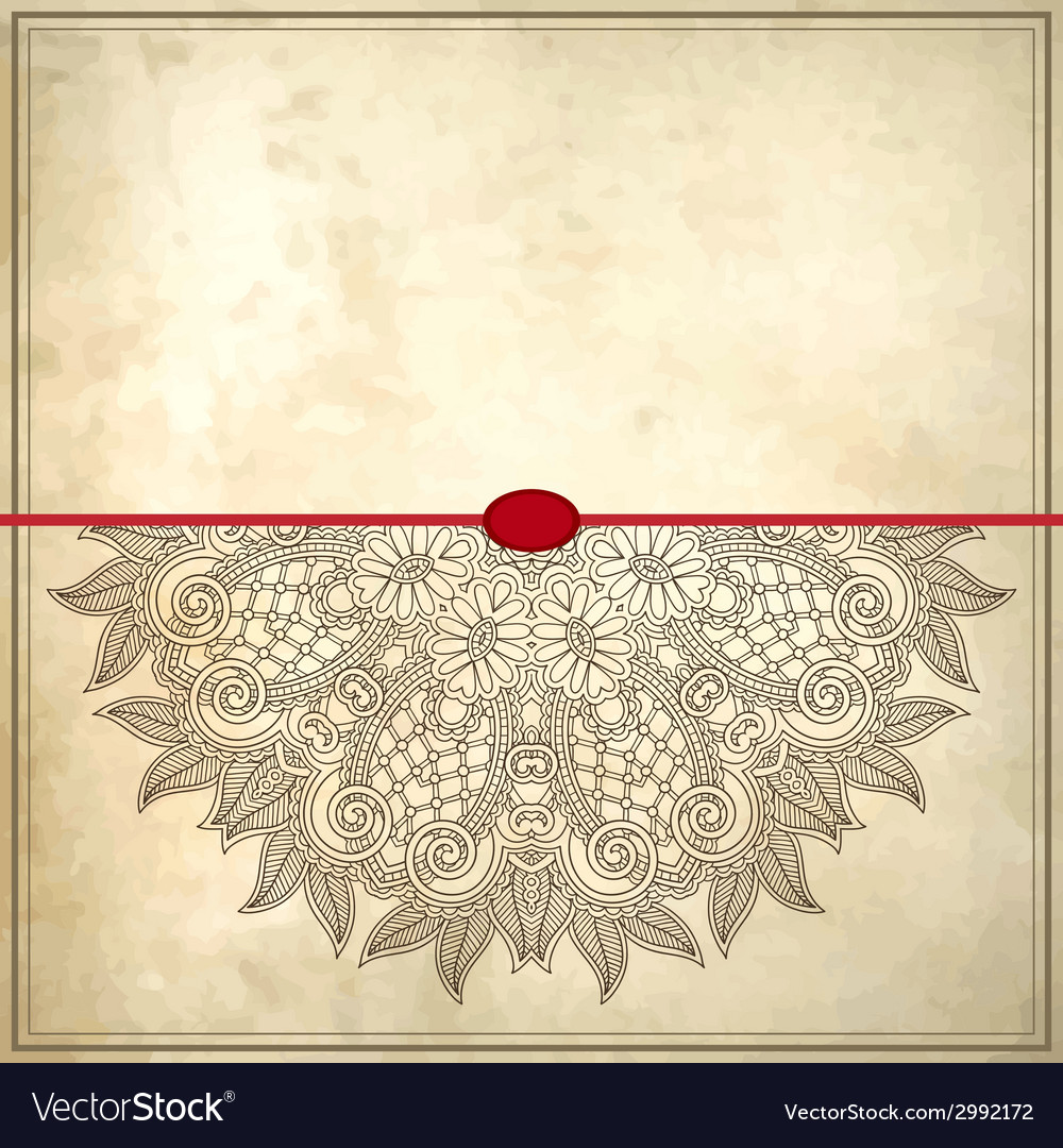 Flower circle design on grunge background with vector
