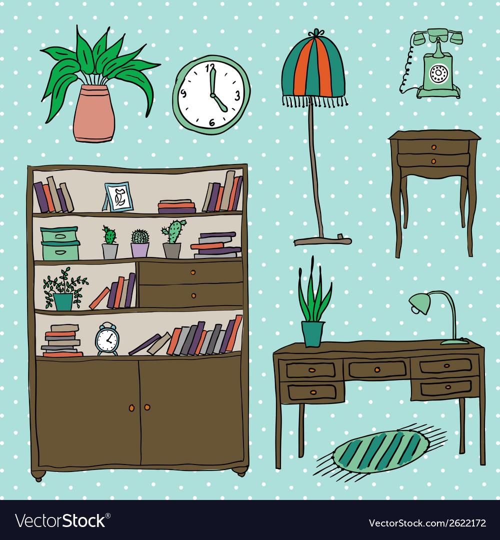 Furniture - set of design elements vector | Price: 1 Credit (USD $1)