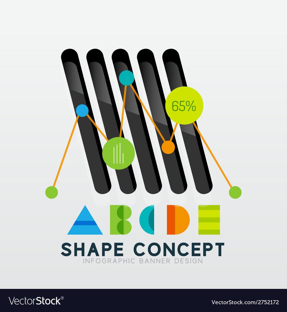 Geometric abstract diagram presentation design vector | Price: 1 Credit (USD $1)