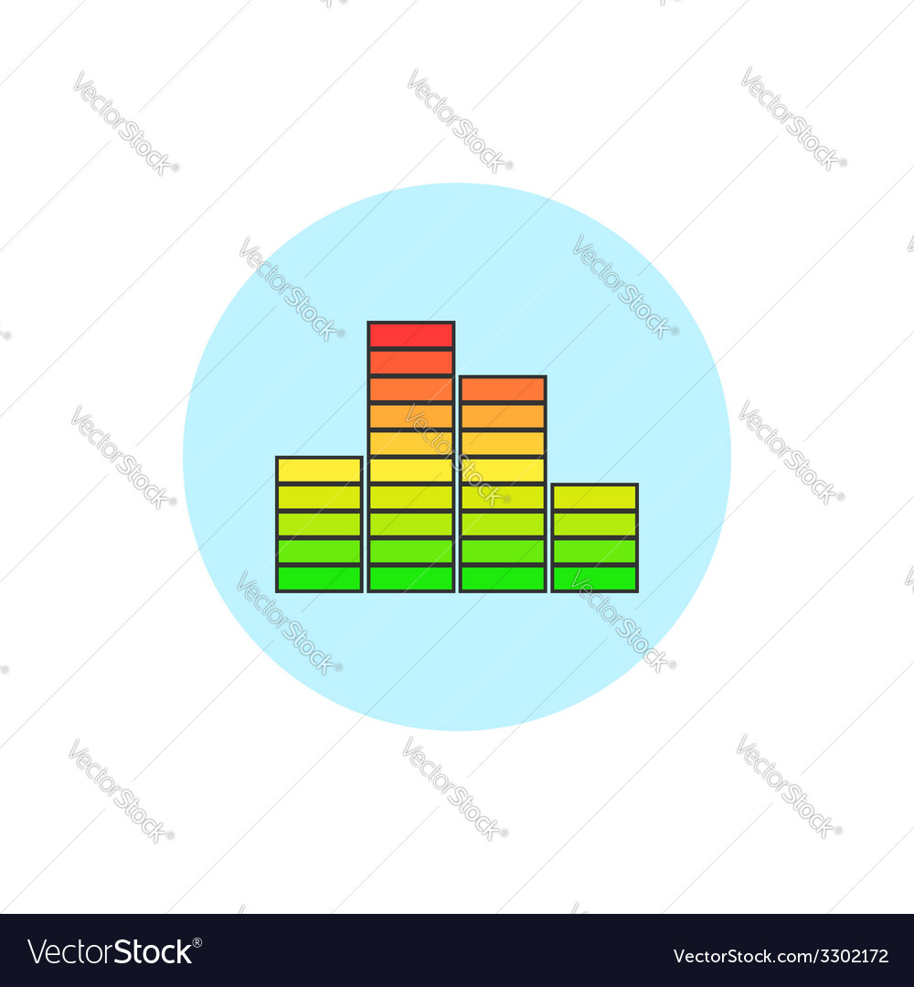 Indicator icon diagram icon vector | Price: 1 Credit (USD $1)