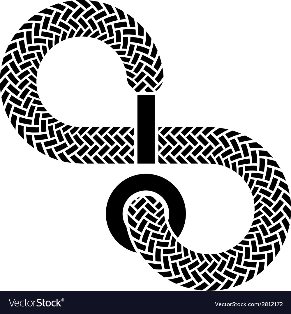 Shoe lace infinity symbol vector   Price: 1 Credit (USD $1)