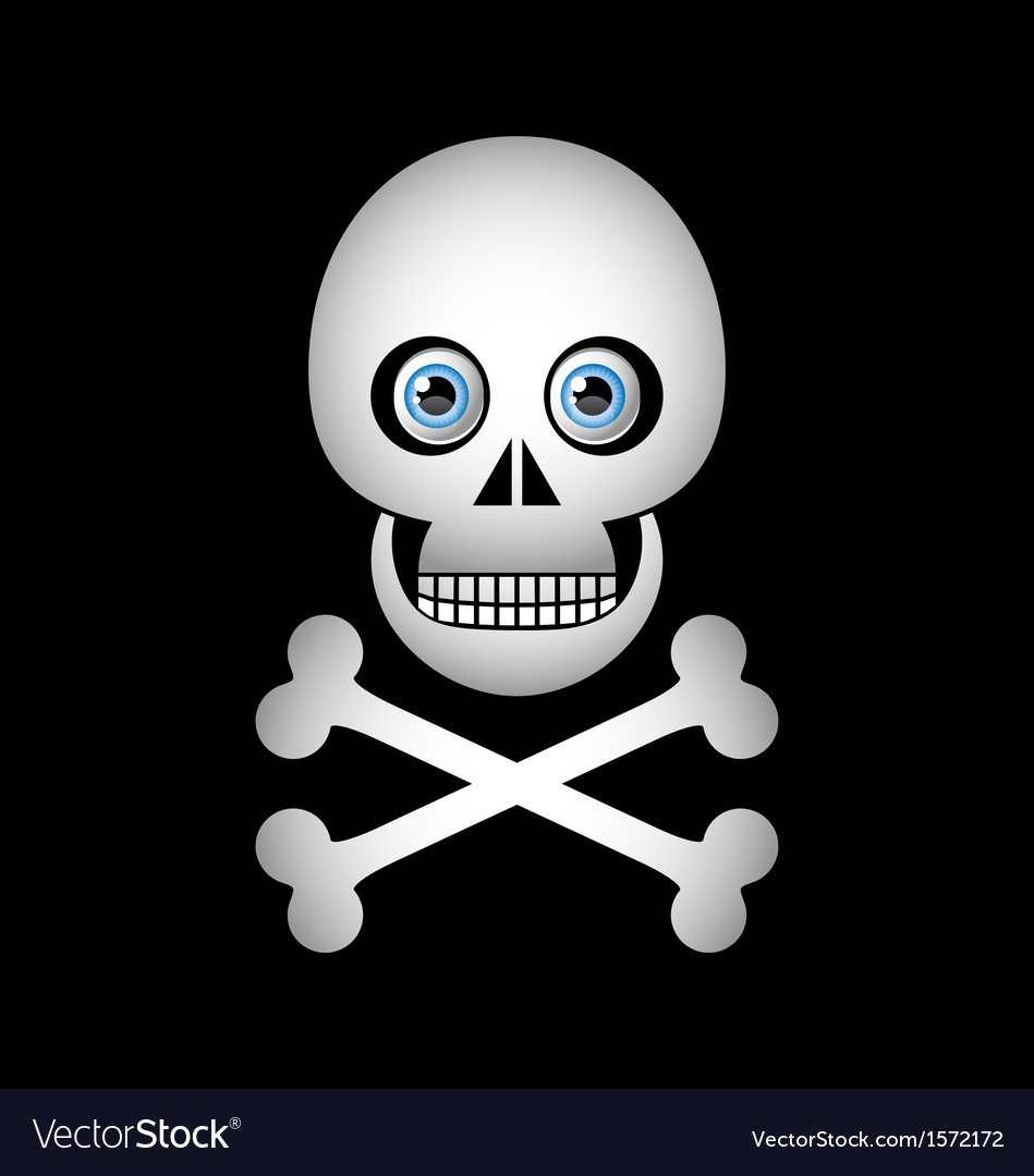 Skull and crossbones icon vector | Price: 1 Credit (USD $1)