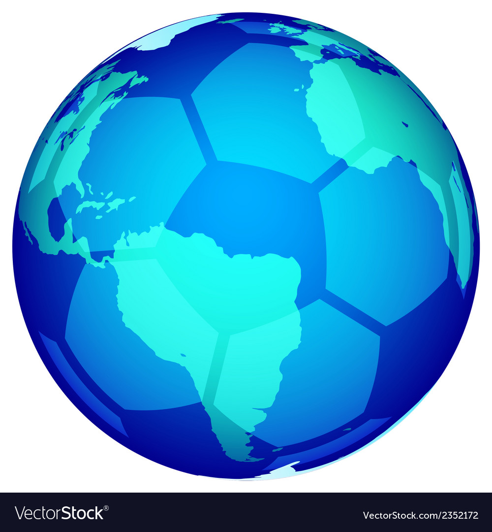 Soccerball globe vector | Price: 1 Credit (USD $1)