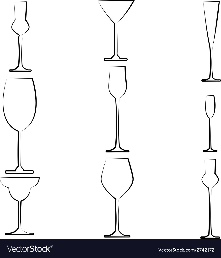 Stemware abstract vector | Price: 1 Credit (USD $1)