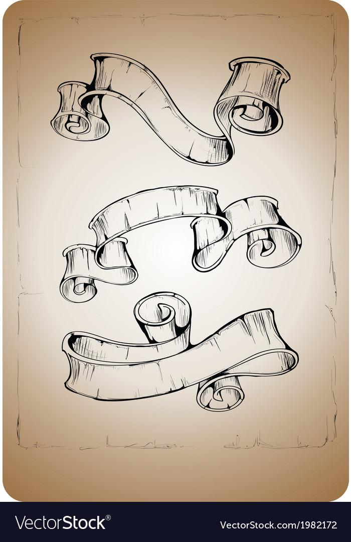 Vintage ribbon vector | Price: 1 Credit (USD $1)