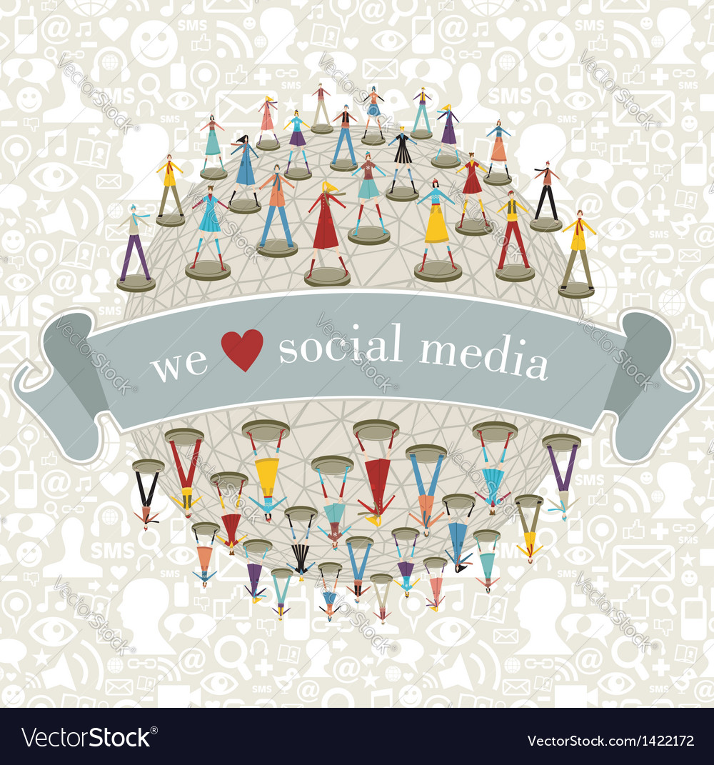 We love social media network vector | Price: 3 Credit (USD $3)