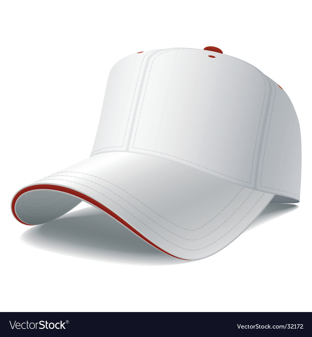 White baseball cap vector | Price: 1 Credit (USD $1)
