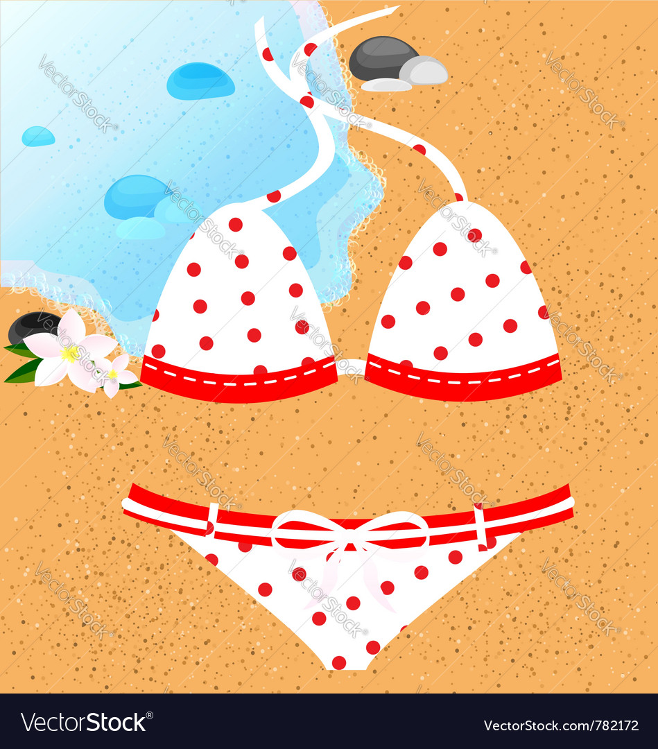 White-red swimsuit vector | Price: 1 Credit (USD $1)