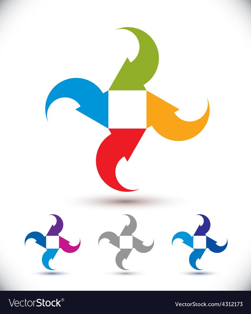 Arrows abstract conceptual symbol template vector | Price: 1 Credit (USD $1)
