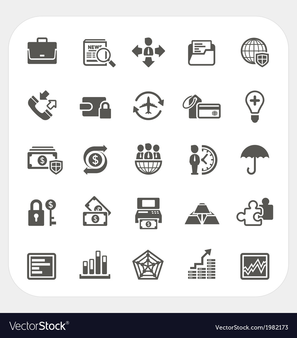 Business and finance icons set vector   Price: 1 Credit (USD $1)