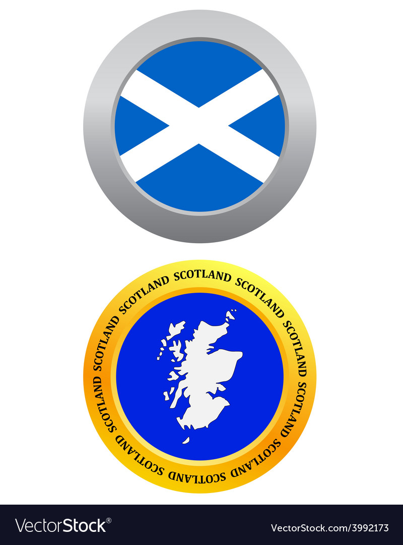Button as a symbol map scotland vector | Price: 1 Credit (USD $1)