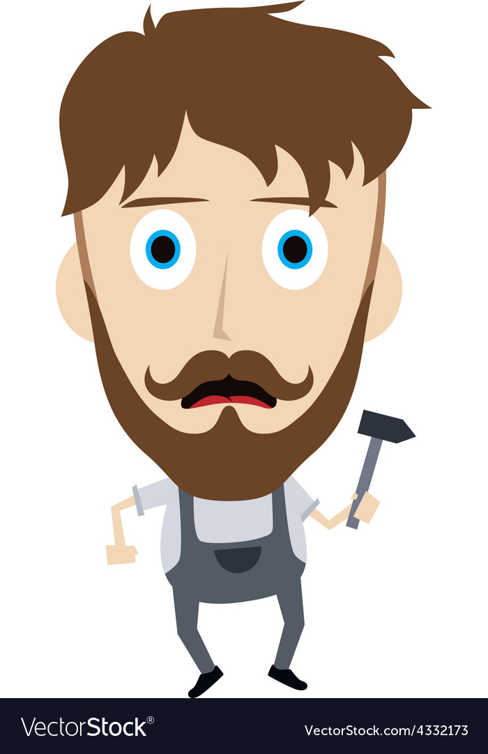 Construction worker guy vector   Price: 1 Credit (USD $1)