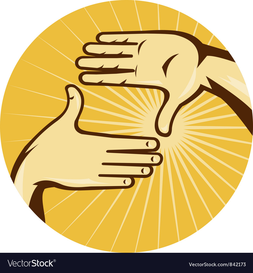 Hands framing shot vector | Price: 1 Credit (USD $1)