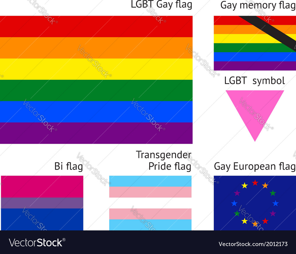 Lgbt gay flags vector | Price: 1 Credit (USD $1)