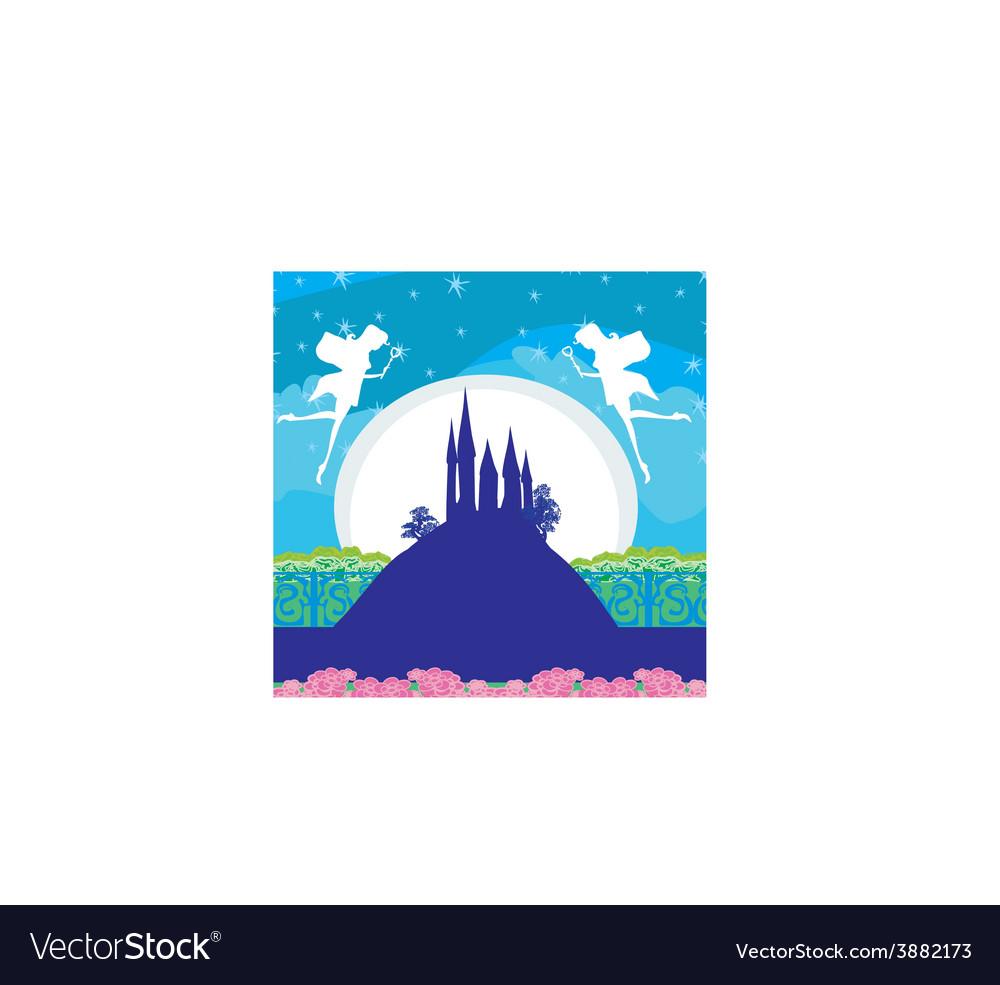 Magic fairy tale princess castle vector   Price: 1 Credit (USD $1)