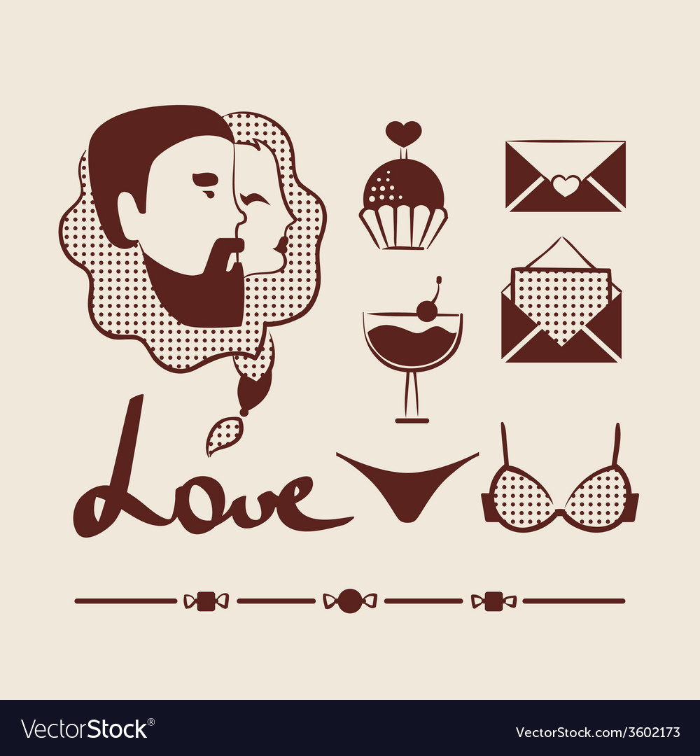 Man and woman couple in love vector | Price: 1 Credit (USD $1)