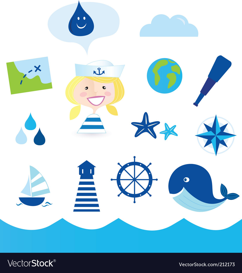 Nautical icons vector | Price: 1 Credit (USD $1)