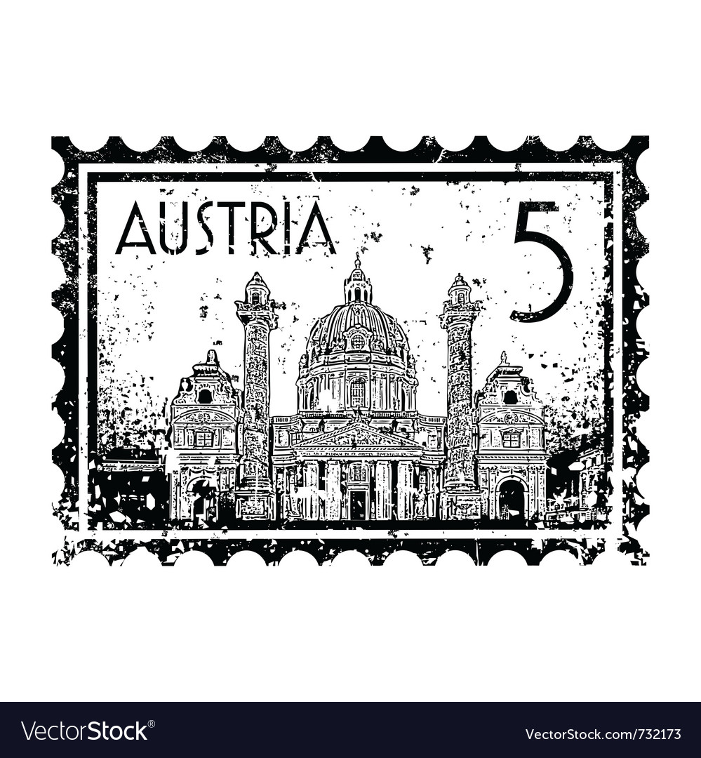 Postmark of austria vector | Price: 1 Credit (USD $1)
