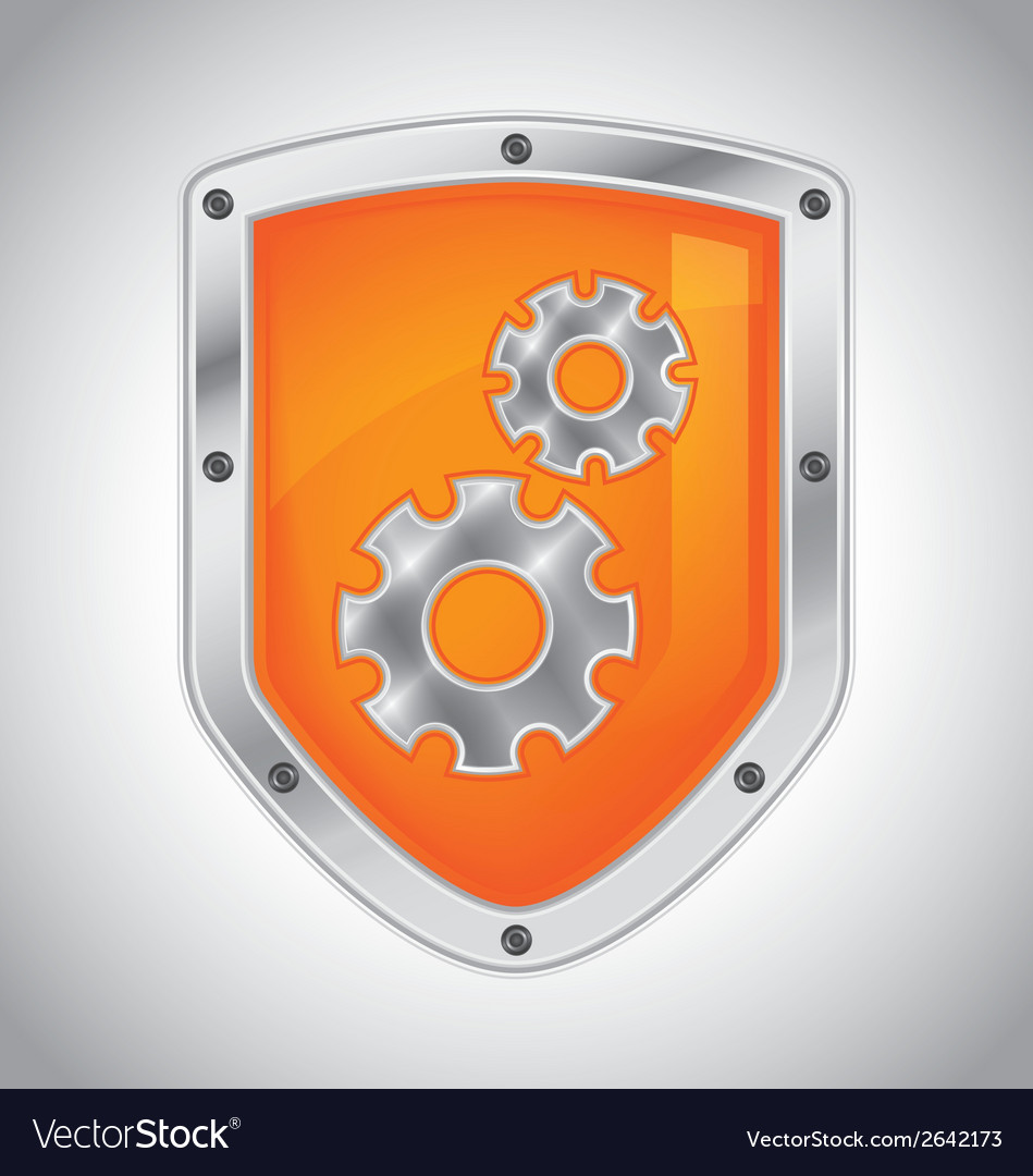 Security shield with tool settings vector | Price: 1 Credit (USD $1)