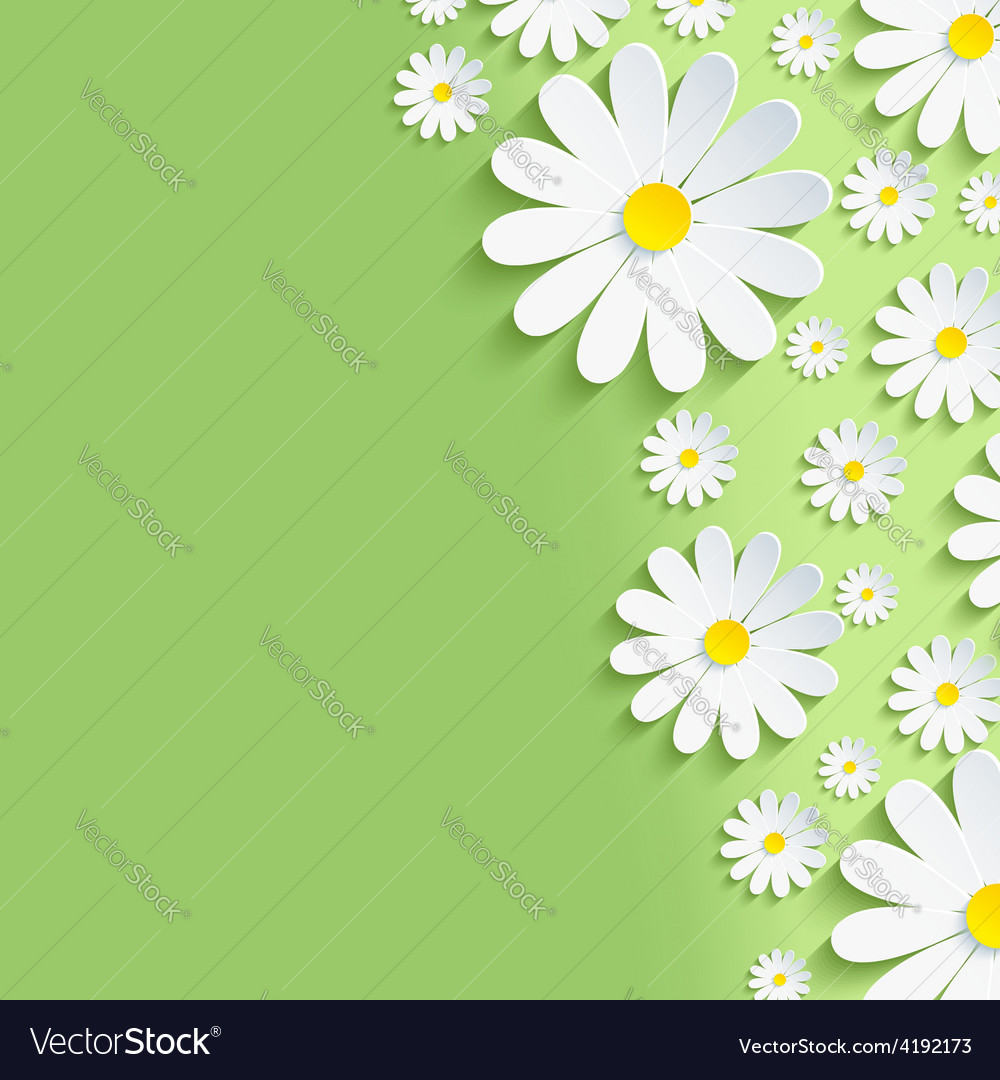 Spring green nature background with chamomile vector | Price: 1 Credit (USD $1)