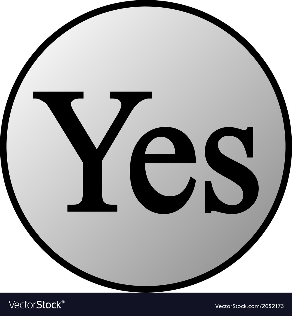 Yes button vector | Price: 1 Credit (USD $1)
