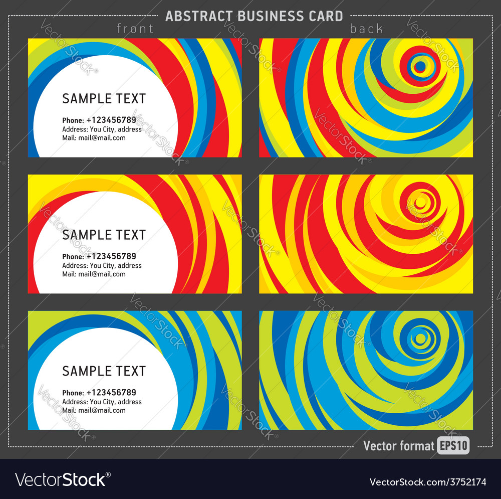 Abstract creative line business card template vector | Price: 1 Credit (USD $1)