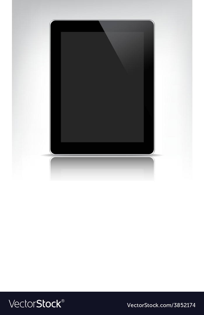 Black tablet pc with empty screen vector | Price: 1 Credit (USD $1)